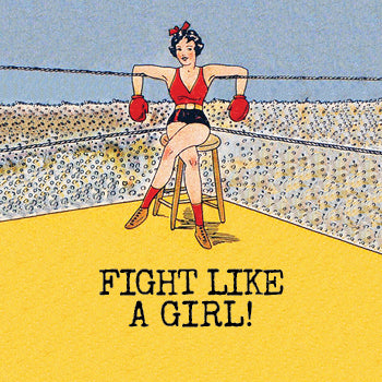 FIGHT GIRL mini & small glass sizes