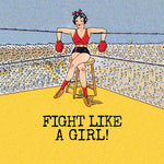 FIGHT GIRL medium glass sizes