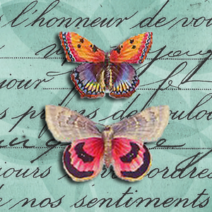 BRIGHT BUTTERFLIES mini & small glass sizes
