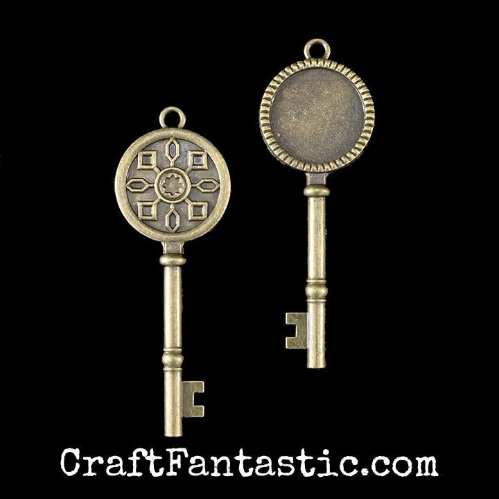 KEY TRAY antique brass