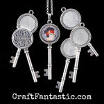 KEY TRAY antique silver