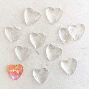 SMALL GLASS HEARTS