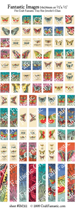 French Butterflies BUNDLE - 5 Sheets