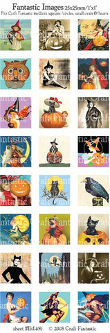 HALLOWEEN medium squares & circles, small ovals, hearts