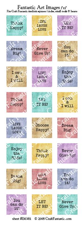 TYPEWRITER INSPIRATION medium squares & circles, small ovals, hearts