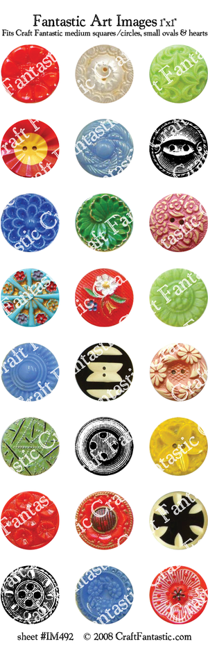 VINTAGE BUTTON BUNDLE - 4 Sheets