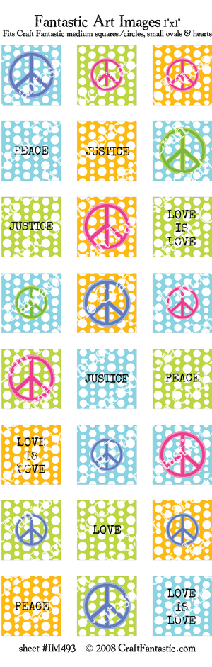 PEACE medium glass sizes