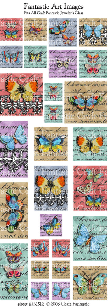 BRIGHT BUTTERFLIES all jeweler's glass sizes
