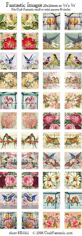 Vintage Birds Image Sheet