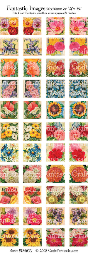 SEED PACKETS mini & small glass sizes