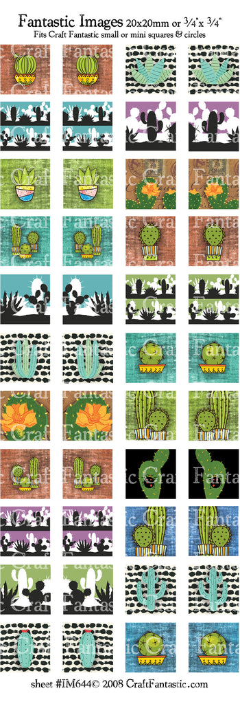 Cactus mini & small glass sizes