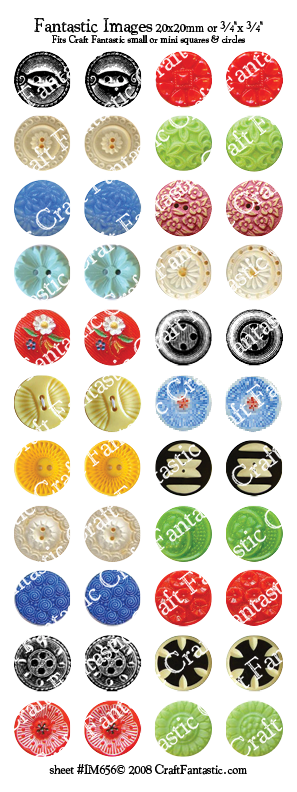 BUTTONS mini & small glass sizes