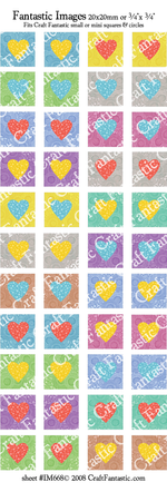 75% OFF - JANUARY NEWSLETTER SPECIAL! - Colorful Heart BUNDLE - Six Sheets
