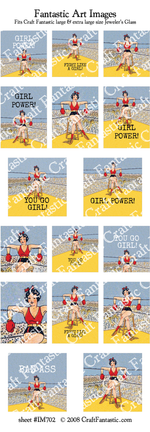 75% OFF - FEBRUARY NEWSLETTER SPECIAL! - Fight Girl BUNDLE - 5 Sheets