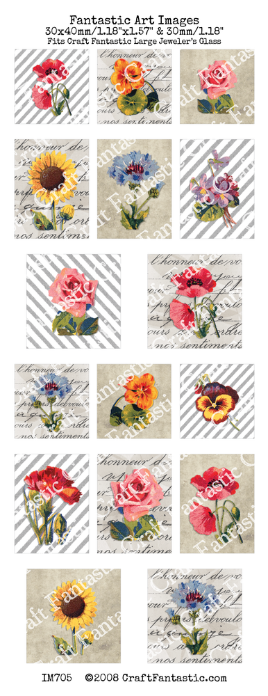 75% OFF - NEWSLETTER SPECIAL! - Stripes & Flowers BUNDLE - 6 Sheets
