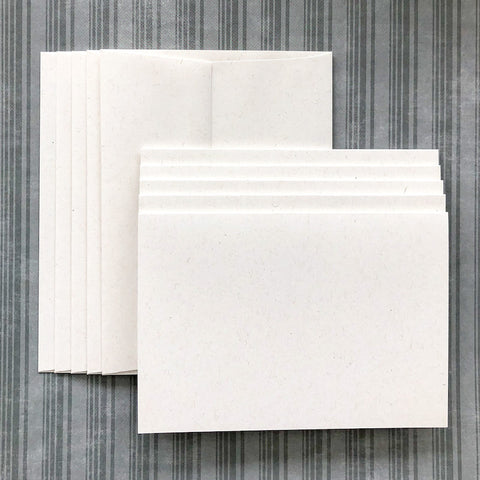 LUXE-LINE CARDS & ENVELOPES white kraft