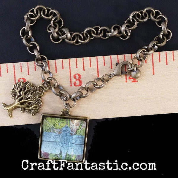 CHARM BRACELET antique brass