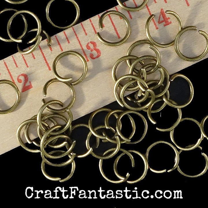 LARGE JUMP RINGS antique brass