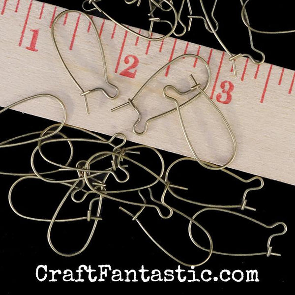 LONG EARWIRES antique brass