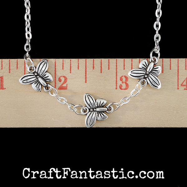 BUTTERFLY CONNECTOR antique silver