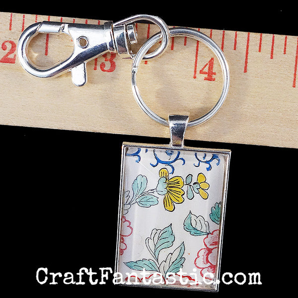 KEYRINGS W/ CLIPS silver