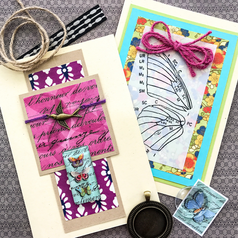 BUTTERFLIES fantastic art card kit