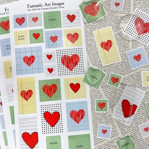 3 SHEET COMBO - Graphic Hearts Image Sheets - $4.95