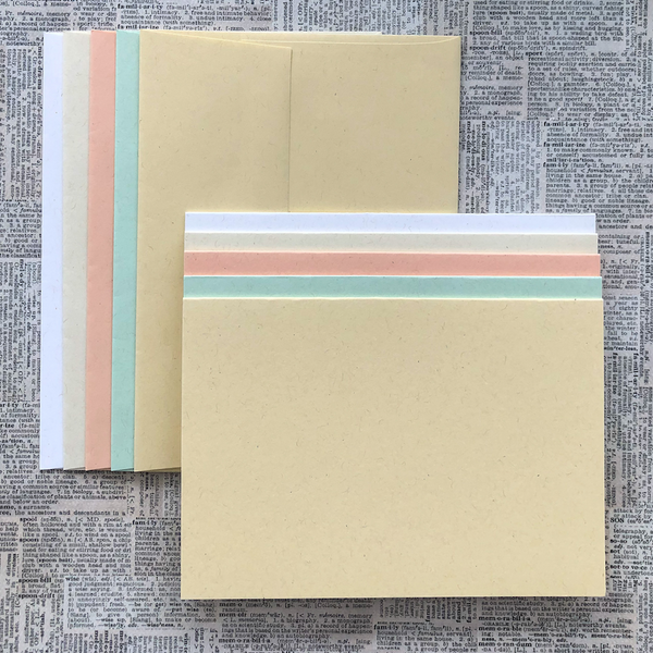LUXE-LINE CARDS & ENVELOPES pastels