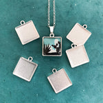 SMALL SQUARE DUO-SIDE CHARM TRAY silver