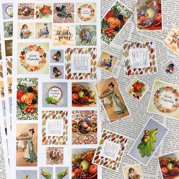 3 SHEET COMBO - Thanksgiving Image Sheets - $4.95