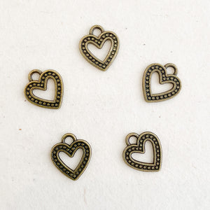 CUT-OUT HEART CHARM
