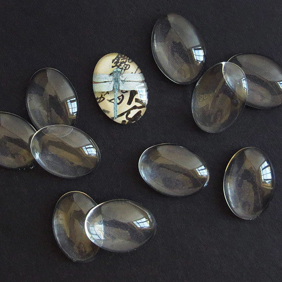 Mini Glass Ovals