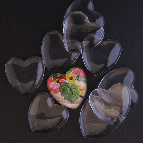 MEDIUM GLASS HEARTS