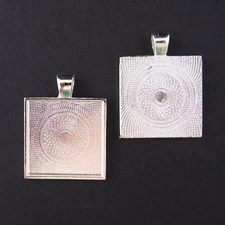 Silver Medium Square Trays