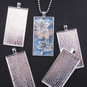 Silver Long Rectangle Trays