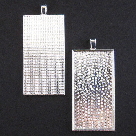 LONG RECTANGLE PENDANT TRAY silver