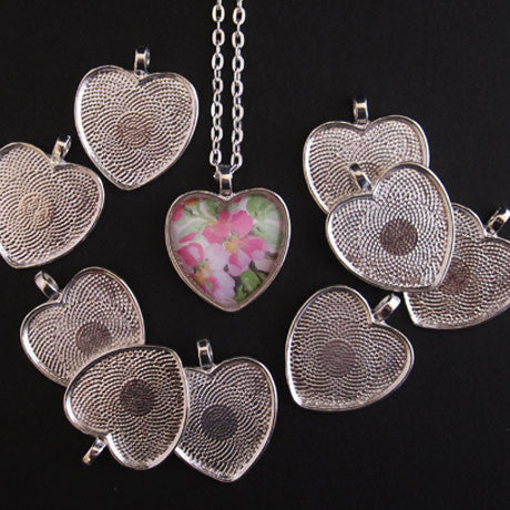 Silver Medium Heart Trays