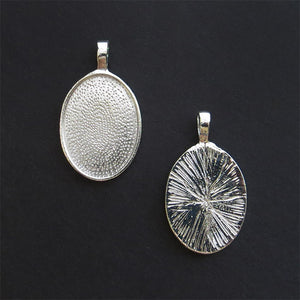 Silver Small Oval Pendant Trays