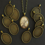 Antique Brass Small Oval Pendant Trays
