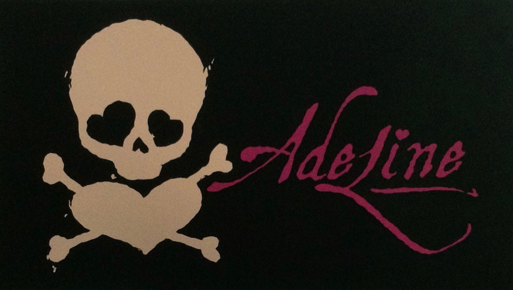 Pink and Black Adeline Sticker