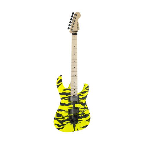 Charvel Pro Mod Dinky Satchel Signature Electric Guitar, Maple FB, Yellow Bengal