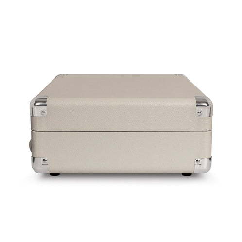 Crosley Cruiser Deluxe Portable Turntable, White Sand