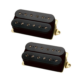 DiMarzio GG2101A3BK Pre-Wired Modern Rock Les Paul Pickup Replacement Set, Black