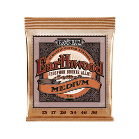Ernie Ball Earthwood Medium Phosphor Bronze Acoustic Guitar Strings, 13-56