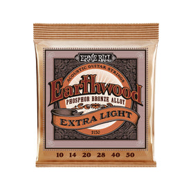 Ernie Ball Earthwood Extra Light Phosphor Bronze Acoustic Guitar Strings, 10-50