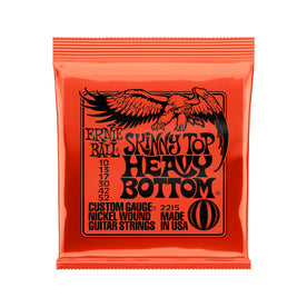 Ernie Ball Skinny Top Heavy Bottom Slinky Nickel Wound Electric Guitar Strings, 10-52