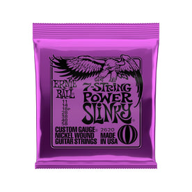 Ernie Ball Power Slinky 7-String Nickel Wound Electric Guitar Strings, 11-58