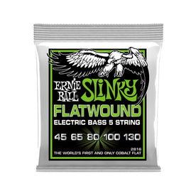 Ernie Ball Regular Slinky 5-String Flatwound Electric Bass Strings, 45-130