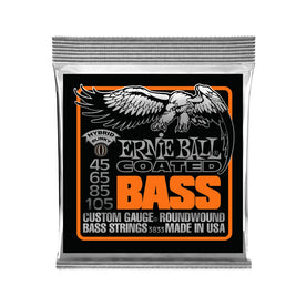 Ernie Ball Hybrid Slinky Coated Electric Bass Strings, 45-105