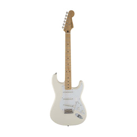 Fender Artist Jimmie Vaughan Tex Mex Stratocaster Guitar, Maple Neck, Olympic White, w/Bag